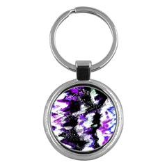 Abstract Canvas Acrylic Digital Design Key Chains (round)  by Amaryn4rt