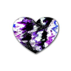 Abstract Canvas Acrylic Digital Design Heart Coaster (4 Pack)  by Amaryn4rt