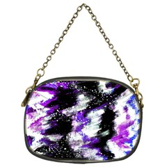 Abstract Canvas Acrylic Digital Design Chain Purses (one Side)
