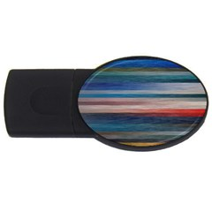 Background Horizontal Lines Usb Flash Drive Oval (2 Gb)  by Amaryn4rt