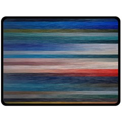 Background Horizontal Lines Double Sided Fleece Blanket (large)