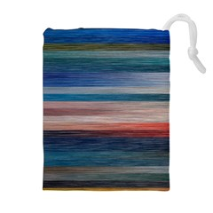 Background Horizontal Lines Drawstring Pouches (extra Large) by Amaryn4rt
