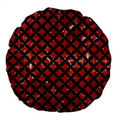 Circles3 Black Marble & Red Marble (r) Large 18  Premium Round Cushion