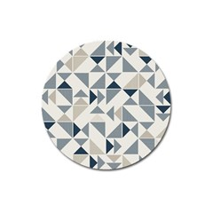 Geometric Triangle Modern Mosaic Magnet 3  (round)