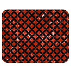 Circles3 Black Marble & Red Marble (r) Double Sided Flano Blanket (medium) by trendistuff