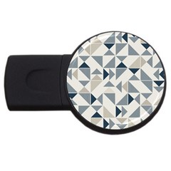 Geometric Triangle Modern Mosaic Usb Flash Drive Round (4 Gb)