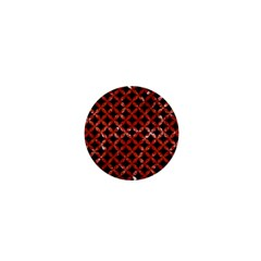 Circles3 Black Marble & Red Marble 1  Mini Button by trendistuff