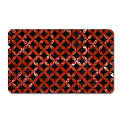 Circles3 Black Marble & Red Marble Magnet (rectangular) by trendistuff