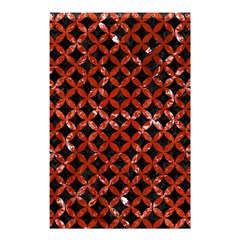 Circles3 Black Marble & Red Marble Shower Curtain 48  X 72  (small) by trendistuff