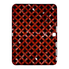 Circles3 Black Marble & Red Marble Samsung Galaxy Tab 4 (10 1 ) Hardshell Case  by trendistuff