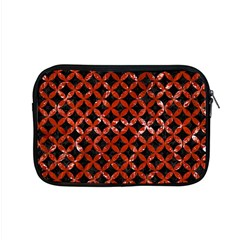 Circles3 Black Marble & Red Marble Apple Macbook Pro 15  Zipper Case