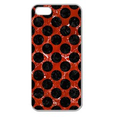 Circles2 Black Marble & Red Marble (r) Apple Seamless Iphone 5 Case (clear) by trendistuff