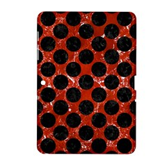 Circles2 Black Marble & Red Marble (r) Samsung Galaxy Tab 2 (10 1 ) P5100 Hardshell Case  by trendistuff