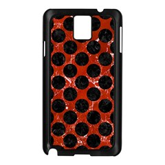 Circles2 Black Marble & Red Marble (r) Samsung Galaxy Note 3 N9005 Case (black) by trendistuff