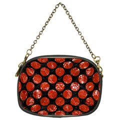 Circles2 Black Marble & Red Marble Chain Purse (one Side) by trendistuff