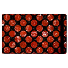 Circles2 Black Marble & Red Marble Apple Ipad 3/4 Flip Case by trendistuff