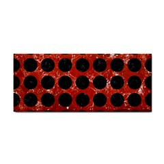 Circles1 Black Marble & Red Marble (r) Hand Towel