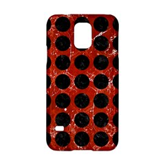 Circles1 Black Marble & Red Marble (r) Samsung Galaxy S5 Hardshell Case  by trendistuff