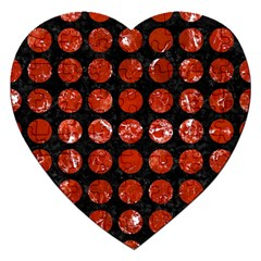 Circles1 Black Marble & Red Marble Jigsaw Puzzle (heart) by trendistuff