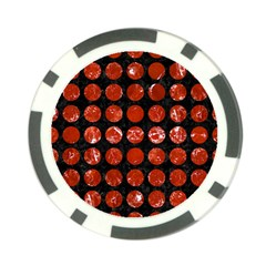 Circles1 Black Marble & Red Marble Poker Chip Card Guard (10 Pack) by trendistuff