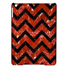 Chevron9 Black Marble & Red Marble (r) Apple Ipad Air Hardshell Case by trendistuff