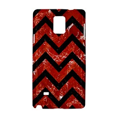 Chevron9 Black Marble & Red Marble (r) Samsung Galaxy Note 4 Hardshell Case by trendistuff