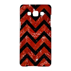 Chevron9 Black Marble & Red Marble (r) Samsung Galaxy A5 Hardshell Case  by trendistuff