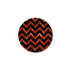 Chevron9 Black Marble & Red Marble Golf Ball Marker (4 Pack) by trendistuff
