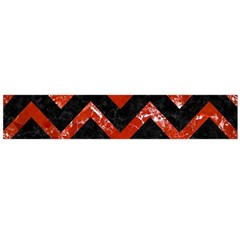 Chevron9 Black Marble & Red Marble Flano Scarf (large) by trendistuff