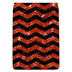 Chevron3 Black Marble & Red Marble Removable Flap Cover (l) by trendistuff
