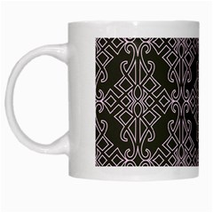 Line Geometry Pattern Geometric White Mugs by Amaryn4rt