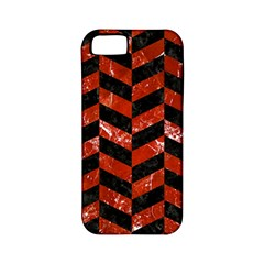 Chevron1 Black Marble & Red Marble Apple Iphone 5 Classic Hardshell Case (pc+silicone) by trendistuff