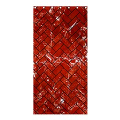 Brick2 Black Marble & Red Marble (r) Shower Curtain 36  X 72  (stall) by trendistuff