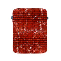Brick1 Black Marble & Red Marble (r) Apple Ipad 2/3/4 Protective Soft Case by trendistuff