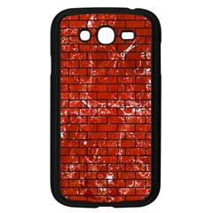 Brick1 Black Marble & Red Marble (r) Samsung Galaxy Grand Duos I9082 Case (black) by trendistuff