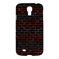 Brick1 Black Marble & Red Marble Samsung Galaxy S4 I9500/i9505 Hardshell Case by trendistuff