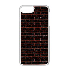 Brick1 Black Marble & Red Marble Apple Iphone 7 Plus White Seamless Case by trendistuff