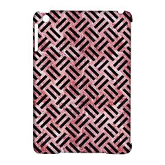 Woven2 Black Marble & Red & White Marble (r) Apple Ipad Mini Hardshell Case (compatible With Smart Cover) by trendistuff