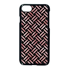 Woven2 Black Marble & Red & White Marble Apple Iphone 7 Seamless Case (black) by trendistuff