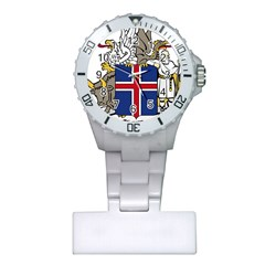 Coat Of Arms Of Iceland Plastic Nurses Watch by abbeyz71