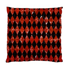 Diamond1 Black Marble & Red Marble Standard Cushion Case (one Side) by trendistuff