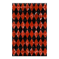 Diamond1 Black Marble & Red Marble Shower Curtain 48  X 72  (small) by trendistuff