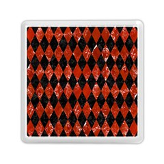 Diamond1 Black Marble & Red Marble Memory Card Reader (square) by trendistuff