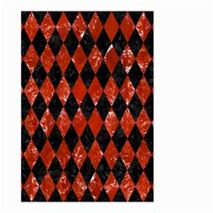Diamond1 Black Marble & Red Marble Small Garden Flag (two Sides) by trendistuff