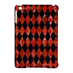 Diamond1 Black Marble & Red Marble Apple Ipad Mini Hardshell Case (compatible With Smart Cover) by trendistuff