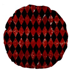 Diamond1 Black Marble & Red Marble Large 18  Premium Round Cushion  by trendistuff