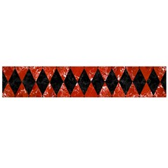 Diamond1 Black Marble & Red Marble Flano Scarf (large) by trendistuff