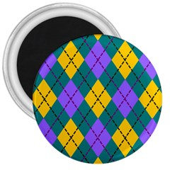 Texture Background Argyle Teal 3  Magnets by Jojostore