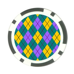 Texture Background Argyle Teal Poker Chip Card Guards by Jojostore