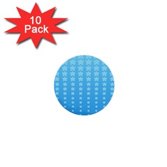 Blue Stars Background 1  Mini Buttons (10 Pack)  by Jojostore